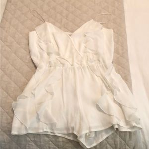 Cute white romper from Lovers + Friends